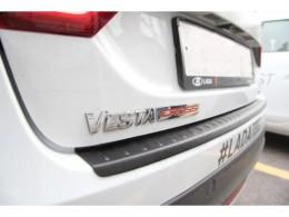 Накладка на задний бампер Лада Веста | LADA Vesta седан Cross, SW Cross (АБС) с 2017 г.в.