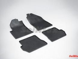 Коврики резиновые (рисунок Сетка) для Ford Fusion 2002-2012