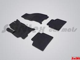 Коврики резиновые (рисунок Сетка) для Ford Mondeo III 2001-2006