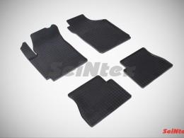 Коврики резиновые (рисунок Сетка) для KIA Picanto 2005-2011