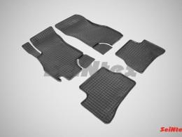 Коврики резиновые (рисунок Сетка) для Hyundai Accent 1999-н.в.