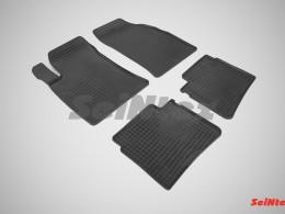 Коврики резиновые (рисунок Сетка) для Hyundai Sonata V 2004-2010