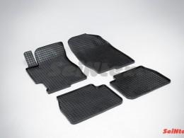 Коврики резиновые (рисунок Сетка) для Mazda 6 2002-2008