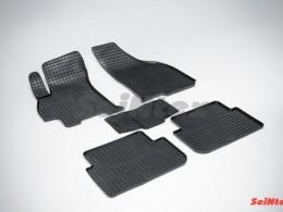 Коврики резиновые (рисунок Сетка) для Chevrolet Lanos 2005-2009