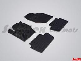 Коврики резиновые (рисунок Сетка) для Citroen C4 2004-2010