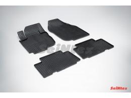 Коврики резиновые (рисунок Сетка) для Toyota RAV4 III 2006-2012