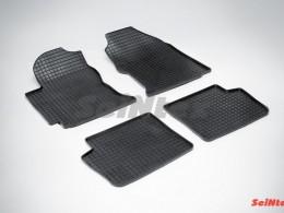 Коврики резиновые (рисунок Сетка) для Toyota Corolla IX (E12) 2001-2007