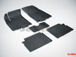Коврики резиновые (рисунок Сетка) для Chevrolet Aveo I 2003-2011