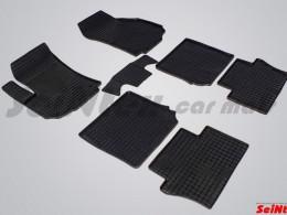 Коврики резиновые (рисунок Сетка) для Opel Zafira II 2006-2012