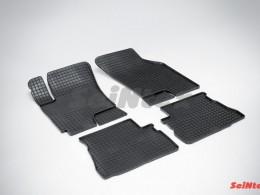 Коврики резиновые (рисунок Сетка) для Hyundai Getz 2002-2009