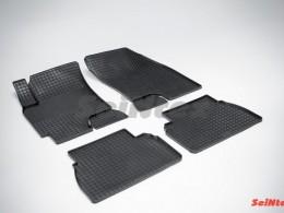 Коврики резиновые (рисунок Сетка) для Chevrolet Epica 2006-2012