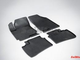 Коврики резиновые (рисунок Сетка) для Hyundai Elantra 2006-2010
