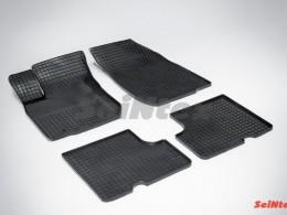 Коврики резиновые (рисунок Сетка) для Renault Logan I 2004-2014