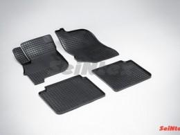 Коврики резиновые (рисунок Сетка) для Mitsubishi Galant IX 2006-2012