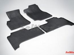 Коврики резиновые (рисунок Сетка) для Toyota Land Cruiser J100 1998-2007