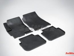 Коврики резиновые (рисунок Сетка) для Mitsubishi Colt VI 2004-2012