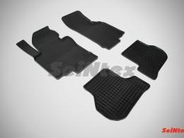 Коврики резиновые (рисунок Сетка) SKODA OCTAVIA A5 (2008-12)