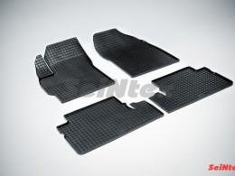 Коврики резиновые (рисунок Сетка) для Toyota Auris 2006-2012