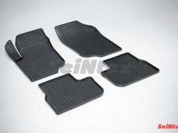 Коврики резиновые (рисунок Сетка) для Peugeot 207 2006-2012