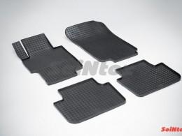 Коврики резиновые (рисунок Сетка) для Honda Accord VII 2002-2007