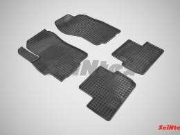 Коврики резиновые (рисунок Сетка) для Mitsubishi Lancer X 2007-н.в.