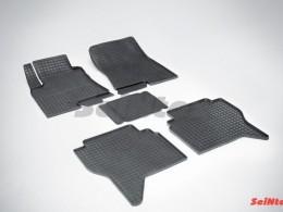 Коврики резиновые (рисунок Сетка) для Mitsubishi Pajero IV 2006-н.в.