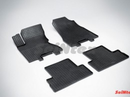 Коврики резиновые (рисунок Сетка) для Nissan X-Trail (T31) 2007-2015