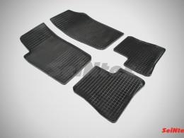 Коврики резиновые (рисунок Сетка) для Peugeot 206 1998-2011
