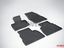 Коврики резиновые (рисунок Сетка) для Honda Civic VIII Hatchback 2006-2011