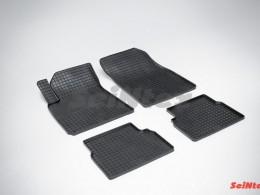 Коврики резиновые (рисунок Сетка) для Cadillac BLS 2006-2009