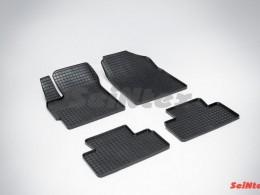 Коврики резиновые (рисунок Сетка) для Mazda CX-7 2007-н.в
