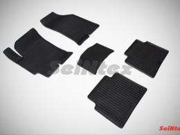 Коврики резиновые (рисунок Сетка) для Hyundai Elantra XD (ТагАЗ) 2008-н.в.