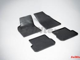 Коврики резиновые (рисунок Сетка) для Audi A-6 2004-2011
