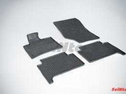 Коврики резиновые (рисунок Сетка) для Audi Q-7 2005-2015