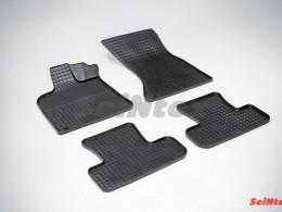 Коврики резиновые (рисунок Сетка) для Audi Q-5 2008-н.в.