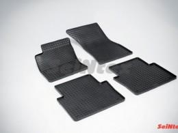 Коврики резиновые (рисунок Сетка) для Audi А8 (2002-10)