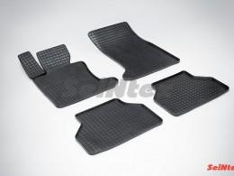 Коврики резиновые (рисунок Сетка) для BMW 5 Ser E-60 2003-2010