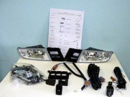 Комплект ПТФ DEPO Honda Civic 4D (2006-2008) c проводами и кнопкой включения