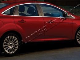 Верхние молдинги стекол (нерж.) 8 шт. Ford Focus III Sedan (2011-)