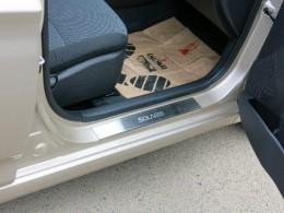 Накладки на пороги Hyundai SOLARIS (2011)