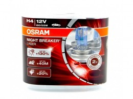 КОМПЛЕКТ ЛАМП OSRAM H4 12V 60/55W NIGHT BREAKER UNLIMITED+130% (2ШТ)