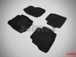 Ворсовые 3D коврики для Ford Mondeo IV (круглый крепеж) 2010-2014