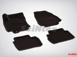 Ворсовые 3D коврики для Nissan Tiida 2007-2014