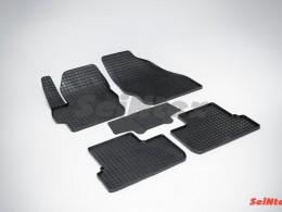 Коврики резиновые (рисунок Сетка) для Mazda 3 2009-2013