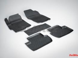 Резиновые коврики с высоким бортом для Mitsubishi Lancer X 2007-н.в.