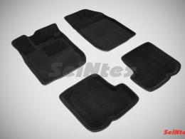 Ворсовые 3D коврики для Renault Sandero 2010-2014
