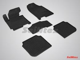 Коврики резиновые (рисунок Сетка) для Hyundai Elantra 2011-2015