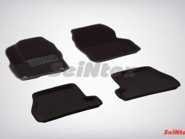 Ворсовые 3D коврики для Ford Focus III АКПП 2011-2015