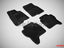Ворсовые 3D коврики для Mitsubishi Pajero IV 2006-н.в.