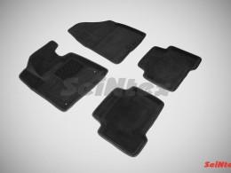 Ворсовые 3D коврики для Hyundai Santa Fe III 2012-н.в.